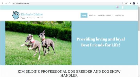 Kim Dildine Dog Breeder Hompage