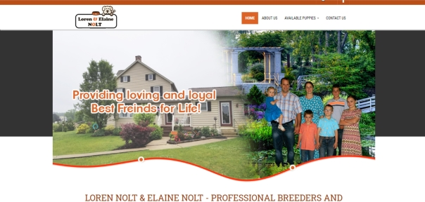 Loren Nolt dog breeder official home page