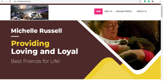 Michelle Russell Dog Breeder Home Page
